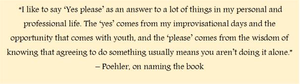 Poehler quote