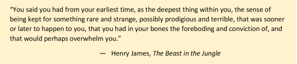 the beast in the jungle quote